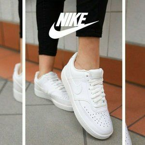 Nike COURT VISION Womens Low Top Fashion Sneakers